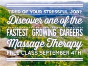 Free Class! Introduction to Massage Therapy