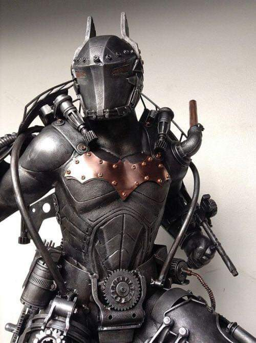 Steampunk Batman sculpture by Ram Mallari Jr.