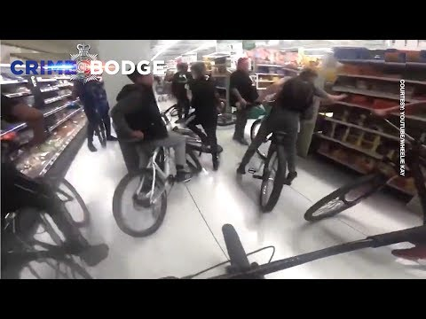 Bicycle Gang Assault Shoppers and Police Do Nothing
