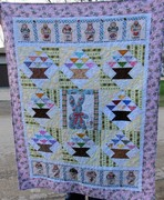 basket quilt finished