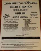 Corinth Baptist Church Car Jeep & Truck Show