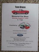 TOM BRUCE MEMORIAL CAR SHOW