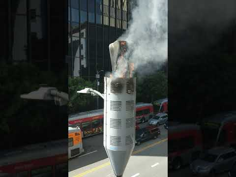 5G CELL TOWER FIRE FROM 5 FEET