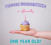 Peacock Wordsmithing 1st Anniversary