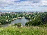 Overlooking a Loch in Holyrood Park