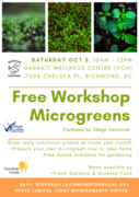 *Grow Your Own Microgreens! (Free Workshop)