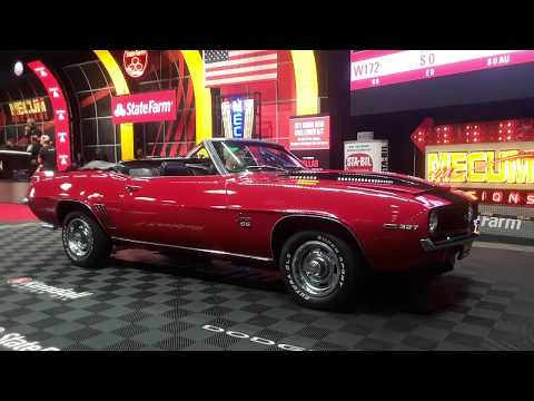 1969 Chevy Camaro Convertible  4 Speed, Drop Top, Red, Right! At the 2019 Mecum Harrisburg