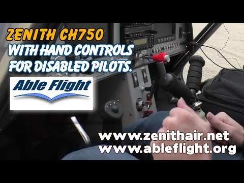 Able Flight, Zenith STOL CH750, experimental aircraft, with hand controls