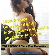 100% Privacy Guaranteed with Independent Housewife Bangalore @Escorts