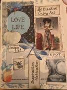 art journal page light blue