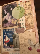 art journal page french dream
