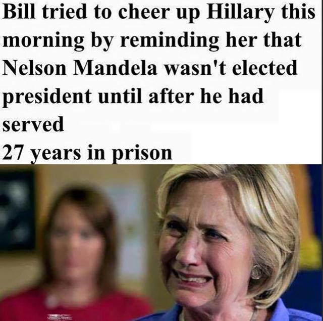 Hillary's consolation