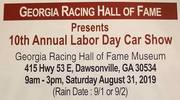GA RACING H O F ANNUAL LABOR DAY CAR SHOW