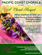 """Pacific Coast Chorale Presents """"A Choral Bouquet"""""""