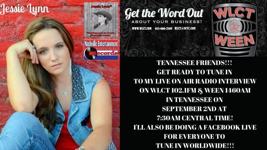 Jessie Lynn Live on WLCT WEEN 102.1FM
