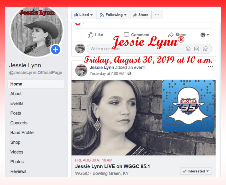 Jessie Lynn Live on WGGC Goober 95.1 FM