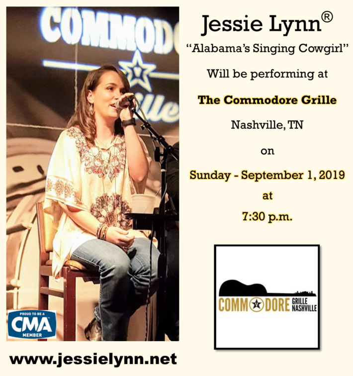 Jessie Lynn Live at The Commodore Grill, Sunday 09-01-19
