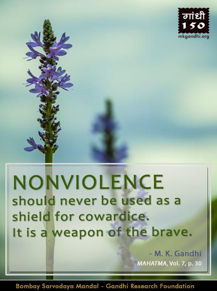 Thought For The Day ( NONVIOLENCE )