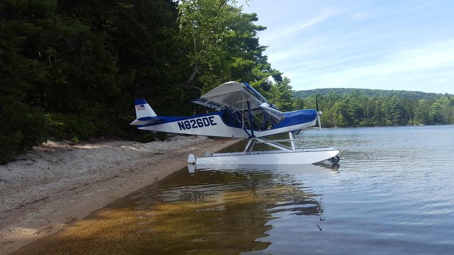 Remote beach in Maine