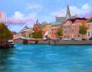 View across the Spaarne, Haarlem