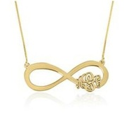 Penelope's infinity necklace gold
