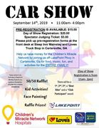 CAR SHOW FOR CHILDRENS MIRACLE NETWORK