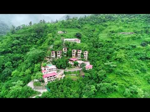 View from the Sky of Veda5, The Luxury Ayurveda, Panchakarma & Yoga Retreat in Rishikesh, India