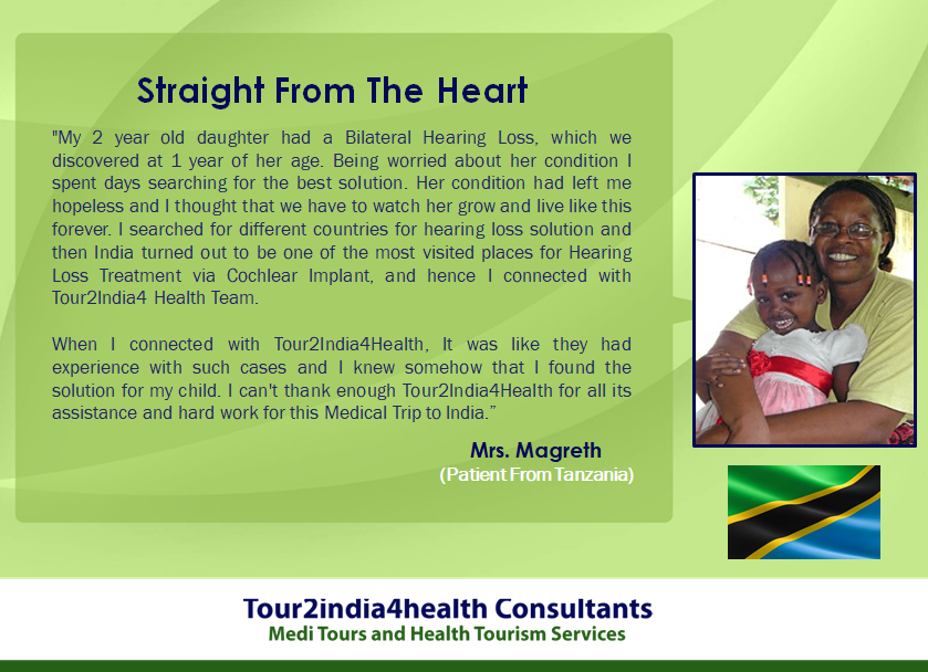 Tanzania Patient Cochlear Implant Experience to Hearing India