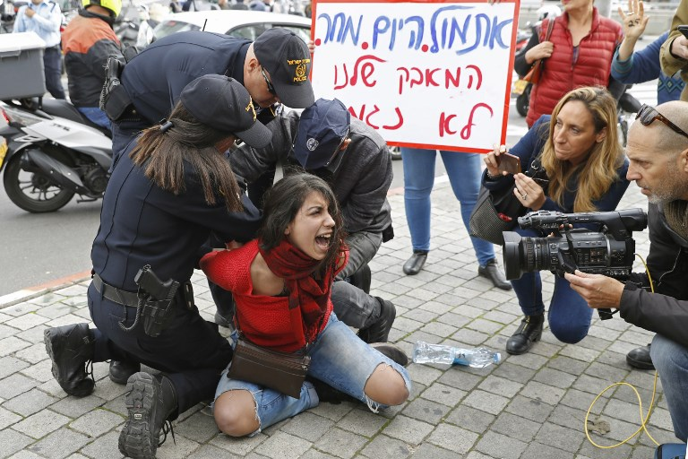 Women protest in major cities against violence; two arrested in Tel Aviv