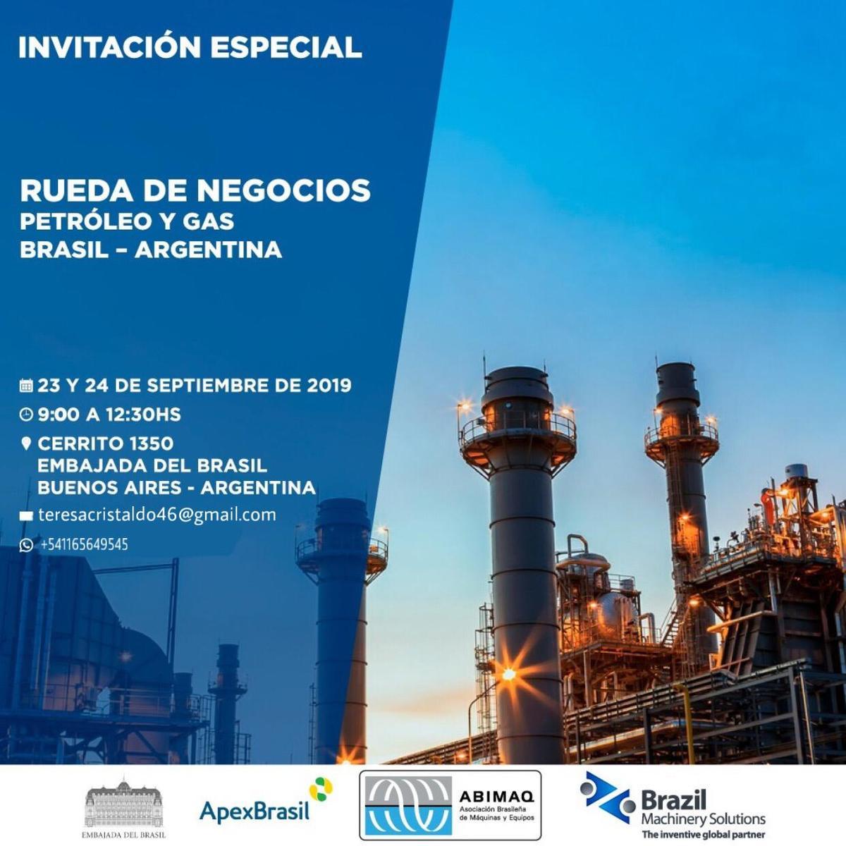Estos 23 y 24 de septiembre se realizará Rueda de Negocios Petroleo y Gas Argentina – Brasil en Buenos Aires