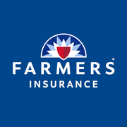 Farmers White Logo on Blue Bckgrd