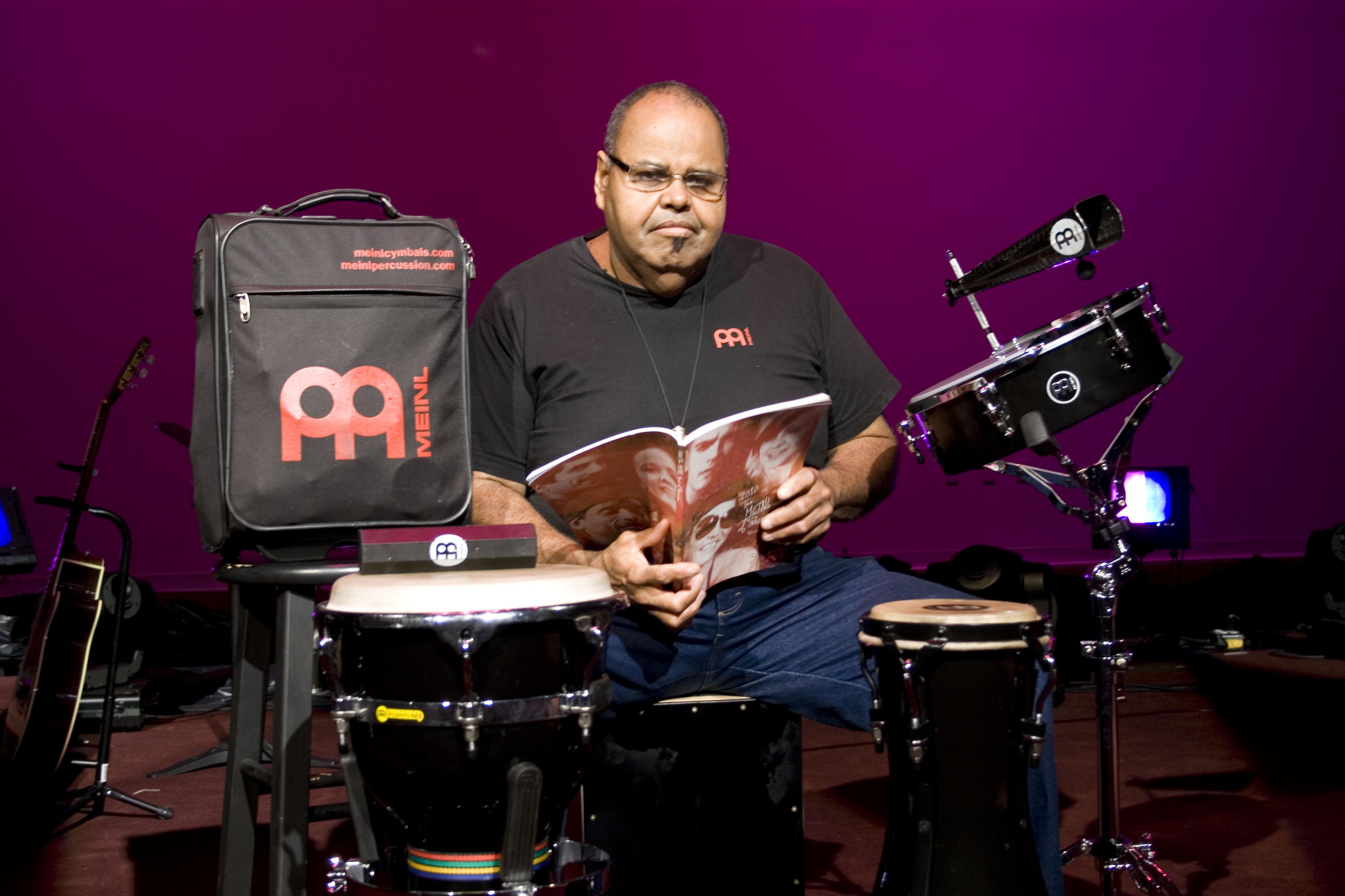 Percussionist Derrick Edwards