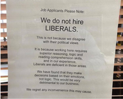 Liberals need not apply