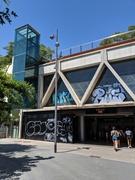 Quiet Metro Station of Mercat Nou