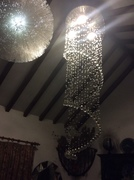 Crystal chandelier - salvage yard find