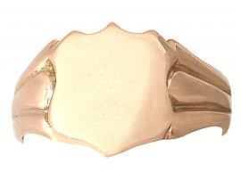 9 ct Rose Gold Gent's Signet Ring - Antique 1915