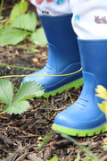 Gum Boots in the Garden