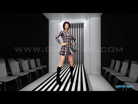 Female character Modelling Animation video 3D Fashion Show catwalk with motion capture