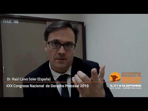 Dr. Raúl Calvo Soler (España) Congreso derecho procesal