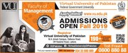 Virtual University of Pakistan Admission Admissions Open Fall 2019