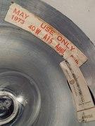 Coach Lantern Bulb Case Label - May 1973