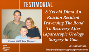 8 Yrs old Dima An Russian Resident Traversing The Road To Recovery After Laparoscopic Urology Surgery in Goa