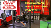 Gary Miller Fitness working on squat depth