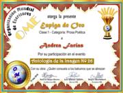 CERTIFICADOS ANTOLOGÍA DE LA IMAGEN Nº 26