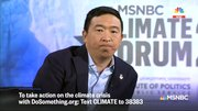 "Andrew Yang: The goal of our climate plan is to make it so we don't ""own our own cars"""