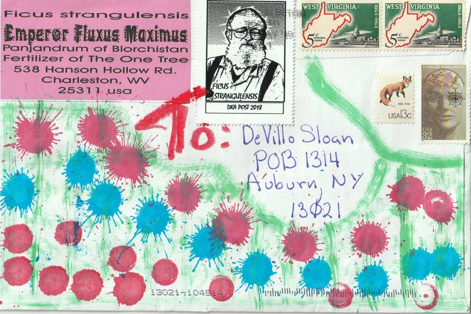 Mail art by Ficus strangulensis (Charleston, West Virginia, USA)