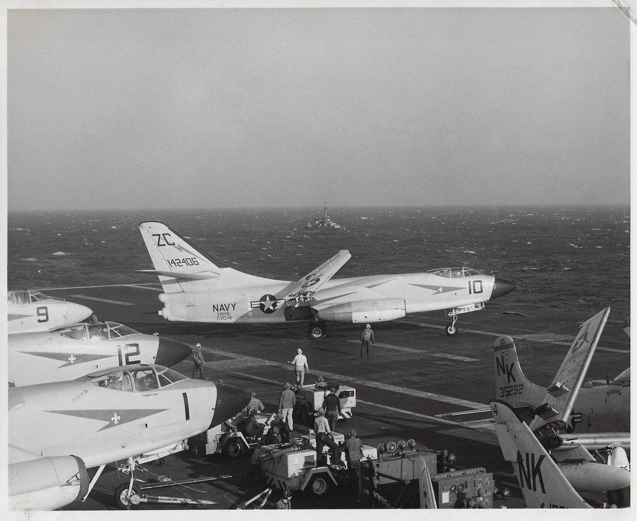 VAH 6 #10 Taxi to launch USS Ranger 1959