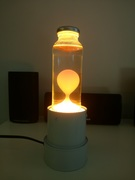 My first attempt (Lava lamp with beeswax) opaque
