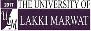 University of Lakki Marwat (ULM) Khyber Pakhtunkhwa