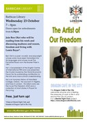 The Artist of our Freedom – Ben Okri - Door 6.30 for refreshments